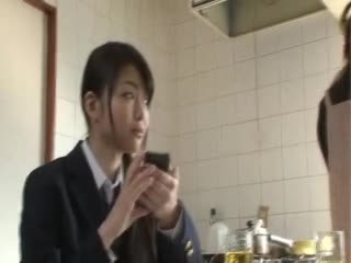 Black asian schoolgirl blowjob for