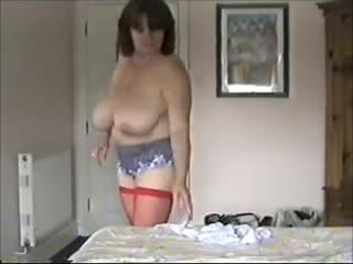 toni kessering gets dressed after a sex session ...