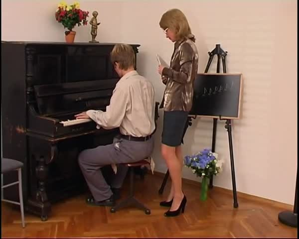 teacher Seduced by piano