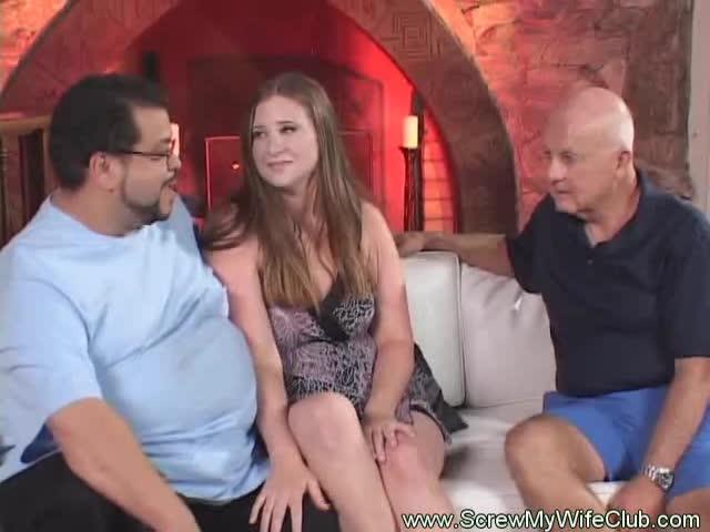 Yummy threesome cum video shots