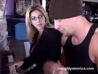 Porsche teacher mrs sexy piano
