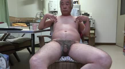 Fingering Japanese Old Man