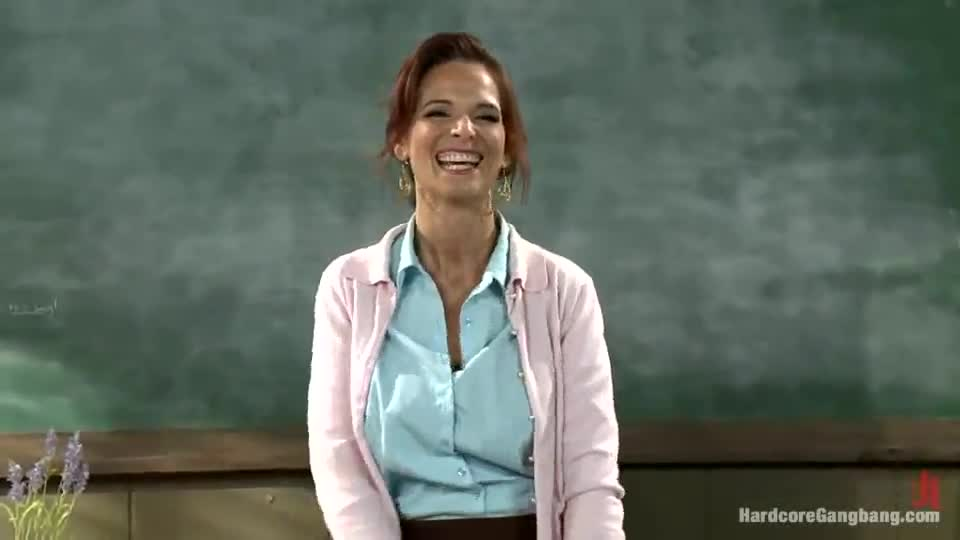 Mature teacher gets gangbanged by her students