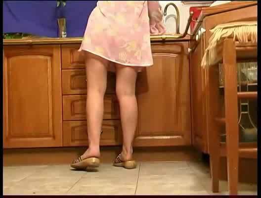Hidden cam under her desk at work at HomeMoviesTubecom