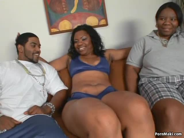 Ebony sitting on dick