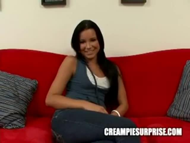 Rather creampie surprise for black girl