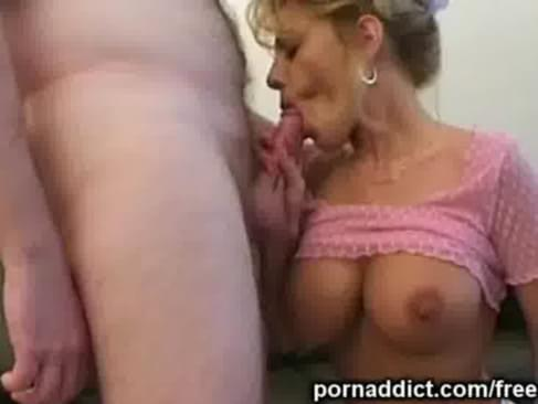 this amateur housewife with big tits was bored while her husband worked. she ...