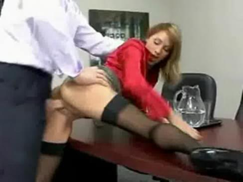 girl fucks her boss for a raise porn