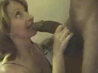 Mature women deepthroat massive black cock