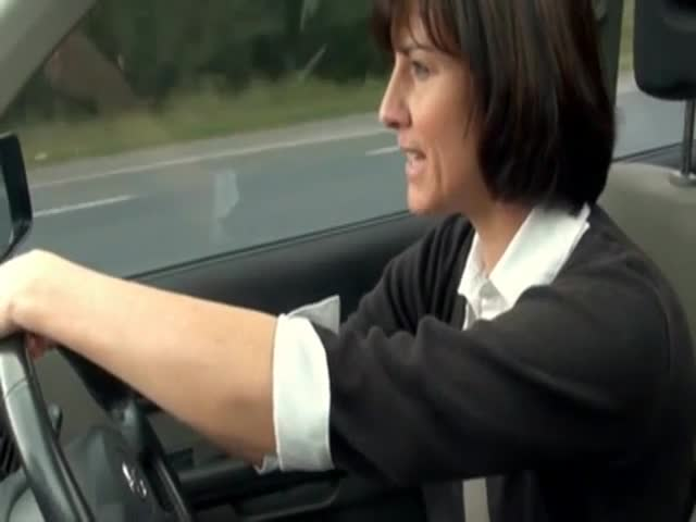 Horny mature masturbating in her car