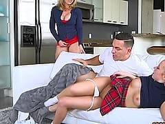 Gfs Mom Caught Us Fucking In The Living Room After School