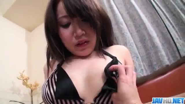 Shizuku morino brunette babe plays nasty on a big cock