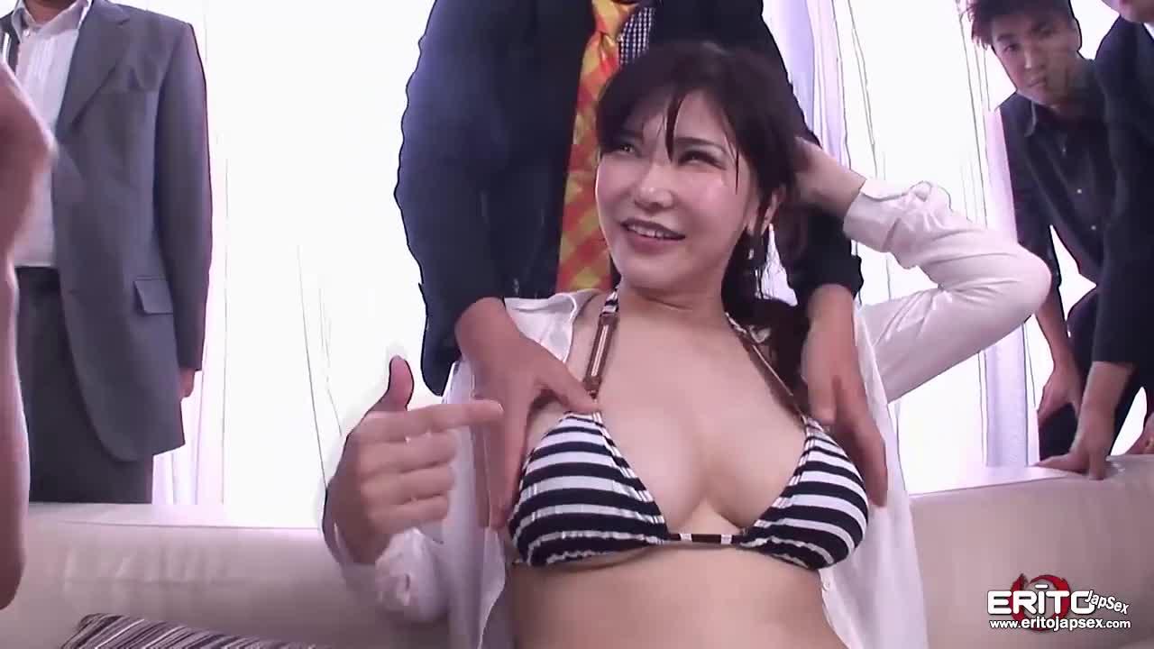 Japanese Hot Spring Gangbang