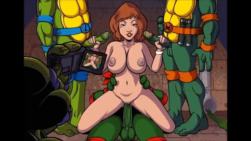 Sexy Redhead Milf Has Sex With 3 Turtles (cartoon)