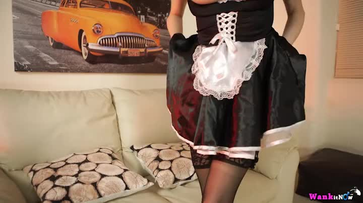 French Maid Plays With Her Cunt And It Gets Wet