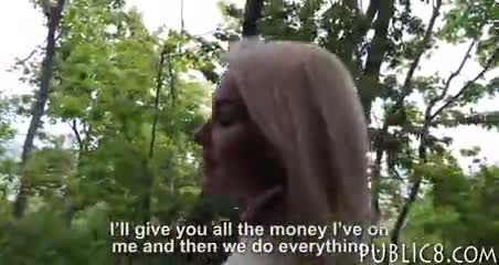 Sexy Amateur Blonde Czech Babe Banged In Exchange For Cash
