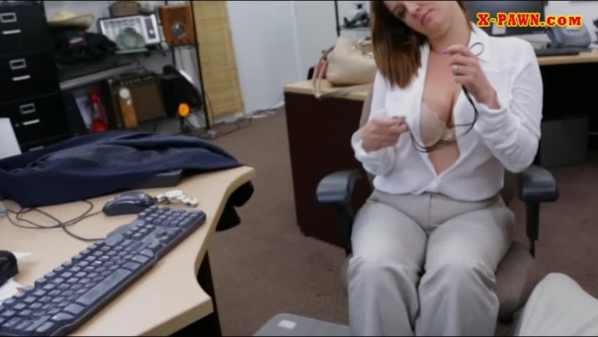 Foxy Business Woman Pawns Her Pussy And Fucked By Pawn Dude
