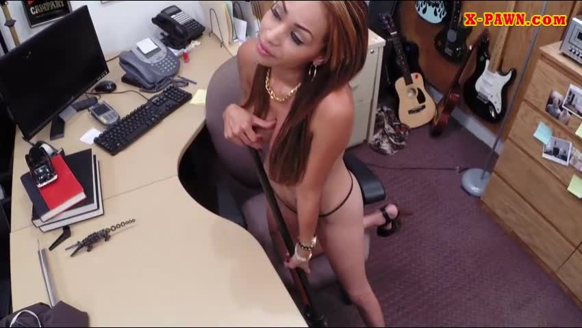 Busty Latina Pounded By Nasty Pawn Guy In The Backroom