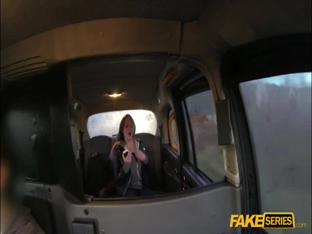 Black Haired Euro Bitch Gets To Fuck The Man In A Cab