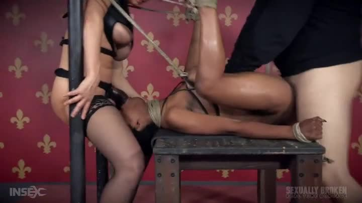 Bound Black Girl Fucked By Master And Mistress