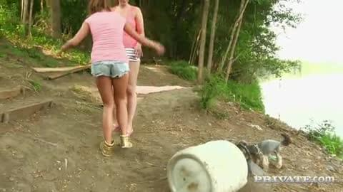 Bella Is Enjoying Some Passionate Lesbian Sex Outdoors