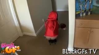 Nice Black Lovely Cutie Looks Cute On Cock