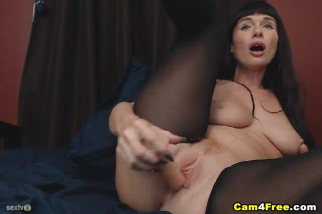 Amateur Busty Milf Ride And Suck A Dildo