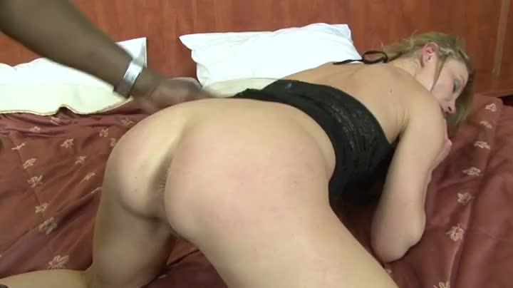 Gaping White Whore Ass With His Big Black Cock