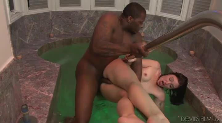 Jodi Taylor Banged Hard By A Stiff Ebony Dick