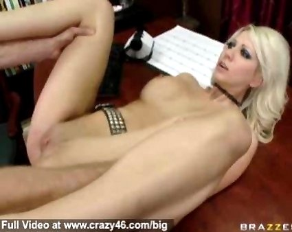 Hot blond porn star rides a big dick like a horse