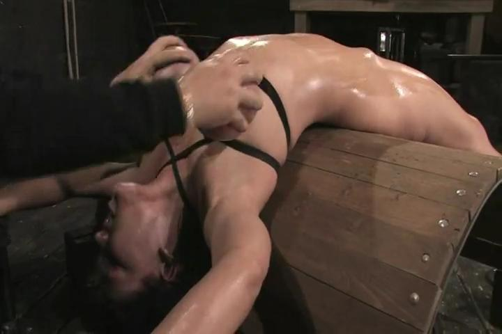 Busty slave gets taken through the hot world of pain 7