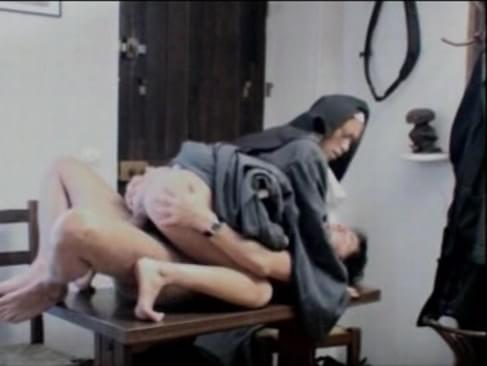 Nun fucked by father in church
