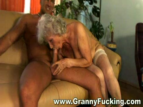 Hot mature granny getting her pussy stuffed by a large cock and shes enjoying every minute of it.