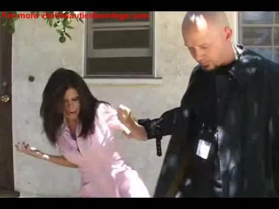 Maid curvy shorts bondage