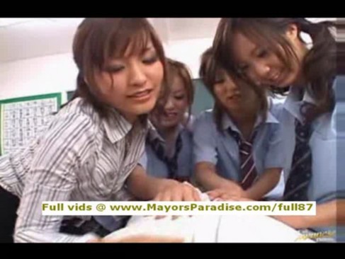Japanese av amateur teen model in school uniform hardcore orgy