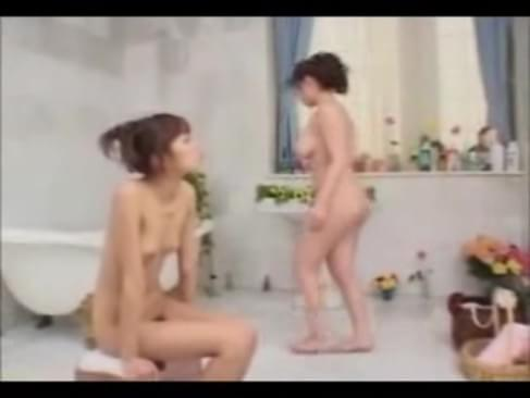 Lesbian mature lady seduces innocent girl during soap massage edited for ...