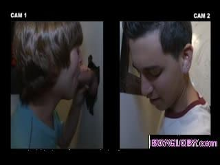 gay boy gloryhole tricks straight guys into gay blowjob