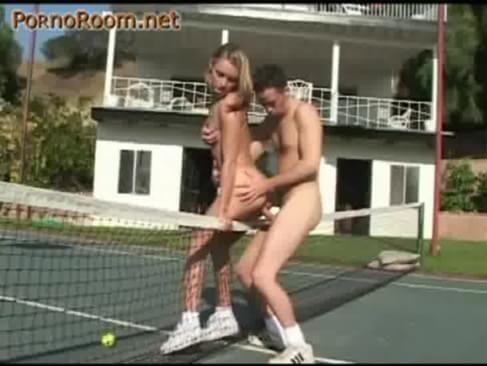 tennis court and extreme sex in the air. 7 minutes 28 seconds