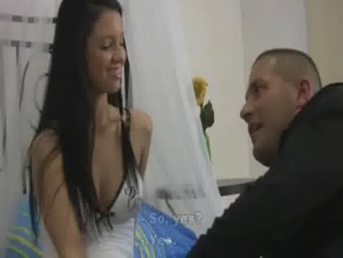 Brunette babe taking cumshot - hardsextube - free porn, sex movies