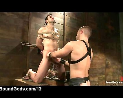 Bound Gay Riley Vicek Blowjob In Cruisy Rest Room