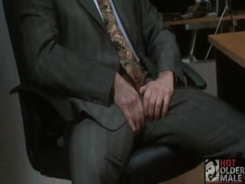 man masturbating in office