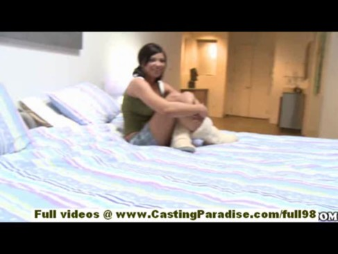 Capri Anderson and Halie James amateur lesbian girlfriends with big tits are kissing and licking nipples in bedroom