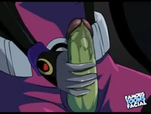 Teen Titans Porn Raven Double Teamed Catches Beastboy