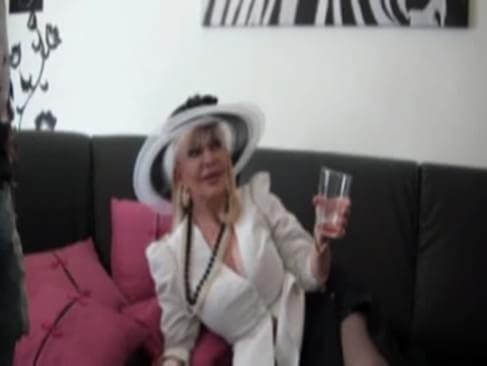 Irma is a french mature who loves black cocks. We presented to her 2 young black men who loves to fucks with old Ladies.
