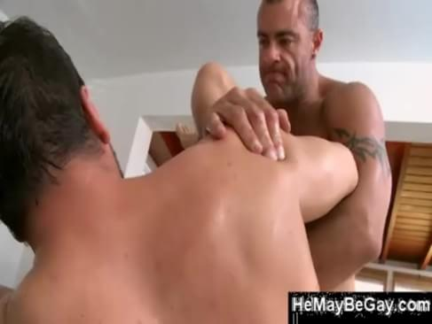 image Middle age straight men jacking off gay