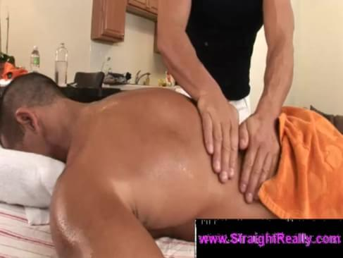 Muscular Straight Jock Assfucks Masseur