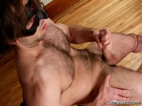 Hairy Pierced Guy Jerking Off