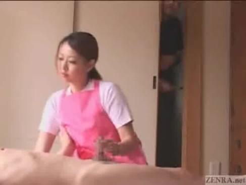 Cfnm japanese blowjob HD caregiver Subtitled