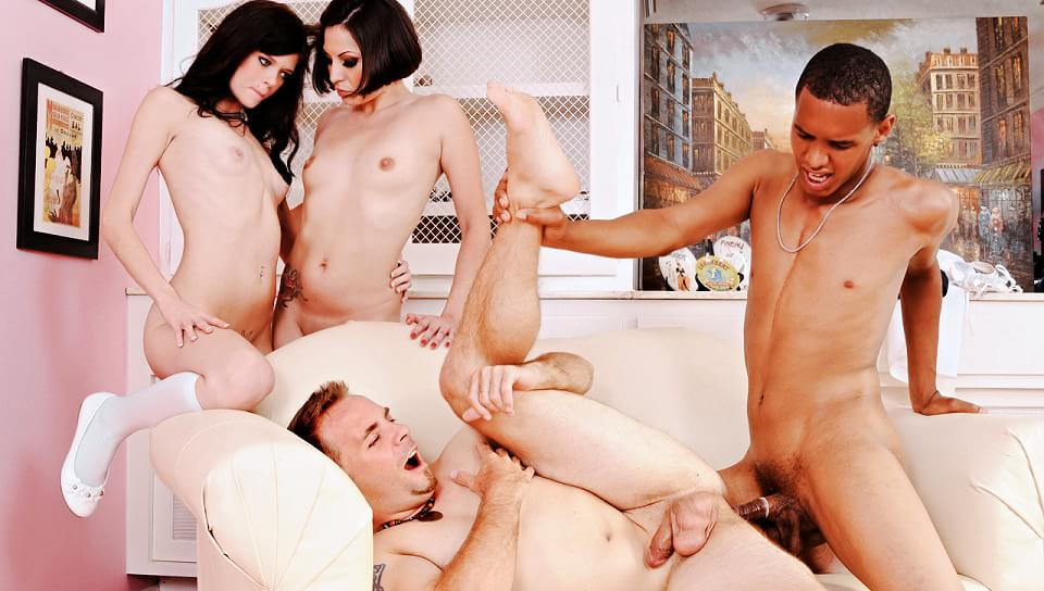 Party watching monster dick couple