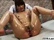 Her Greek pissing girl with legs spread only